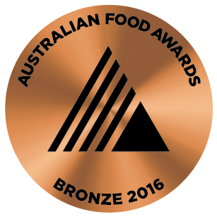 Winner of the Bronze Medal at the Australian Food Awards in Melbourne in 2016