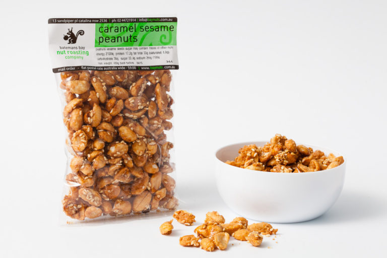 caramel sesame peanuts